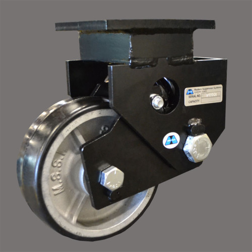 Shock Absorbing, Spring Loaded Aerospace Casters