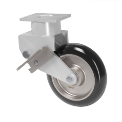 95A Polyuthane Alum Swivel Caster W/ Swivel Lock & Wheel Brake