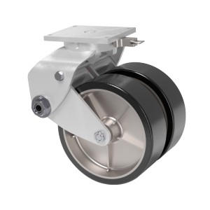 Rubber Wheel, Aluminum Swivel Caster, Swivel Lock