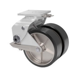 Polyurethane Wheel, Aluminum Swivel Caster, Wheel Brake & Swivel Lock